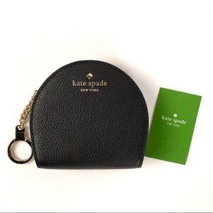 NWT-Kate-Spade-Larchmont-Avenue-Sari-Leather-Wallet-Coin-Purse-Keychain-Black