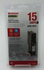 Square D Homeline Hom115dfc Plug On Neutral Dual Function Cafi Gfci Breaker