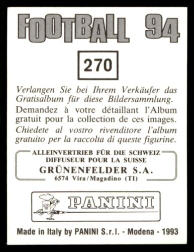 Panini Fútbol 94 Wappen Antiguo Chicos Nationalliga B Gruppe West no Suiza 270