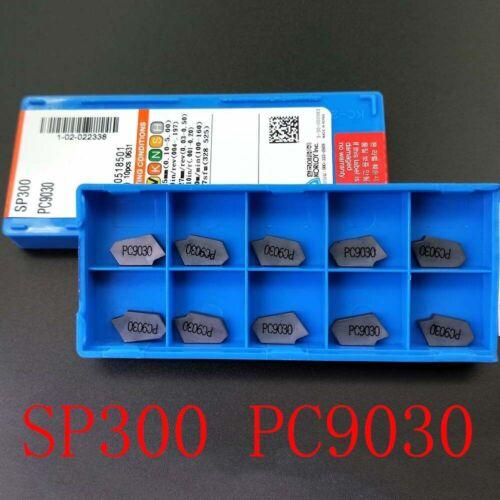 SP300 PC9030 ZQMX3N11-1E Grooving Cut-Off Carbide Inserts 3mm Width CNC Lathe