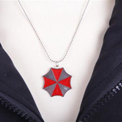 """Silver Resident Evil Biohazard Poison Symbole Pendentif Homme 24/"""" Chaîne Collier Nouveau"""