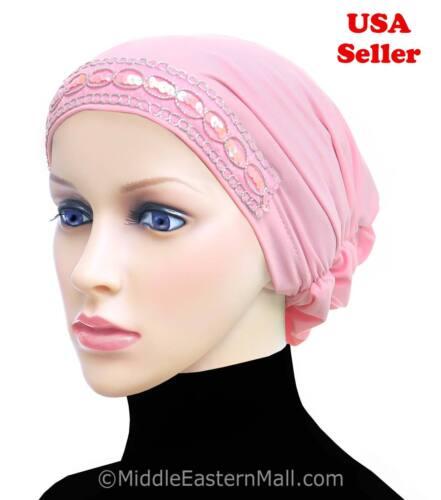 Beanie Cap Luxor Snood Hijab cap  Muslim woman Cancer Hat for Chemo Hair Loss