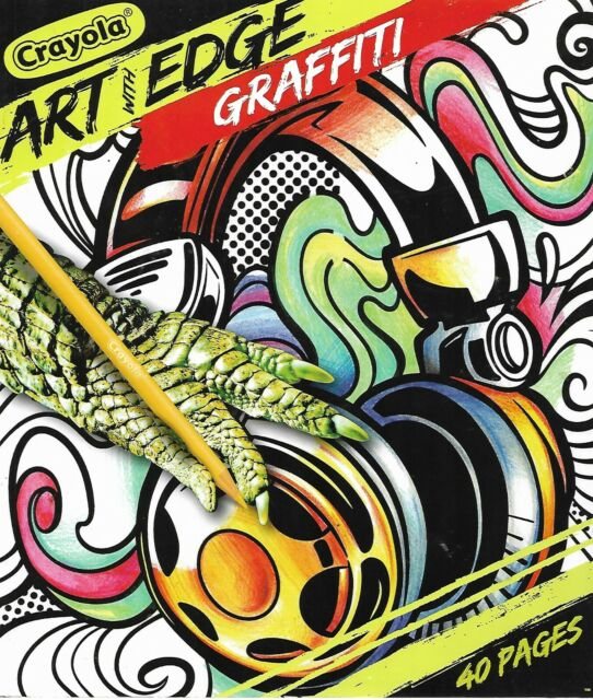 Crayola Art With Edge Coloring Book Graffiti 40 Premium Pages Adult Stress
