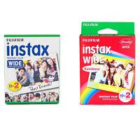Plain & Rainbow Fujifilm Instax Wide Film Polaroid 40 Instant Photos Value Set
