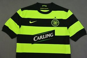 1f4274fa8f5 Image is loading 2009-10-NIKE-Celtic-GLASGOW-NEON-Football-Jersey-