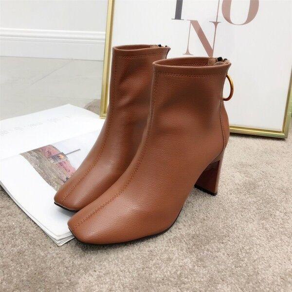 promociones de descuento botas stivaletti bassi comodi  8 cm caviglia marrón pelle pelle pelle sintetica 9541  protección post-venta