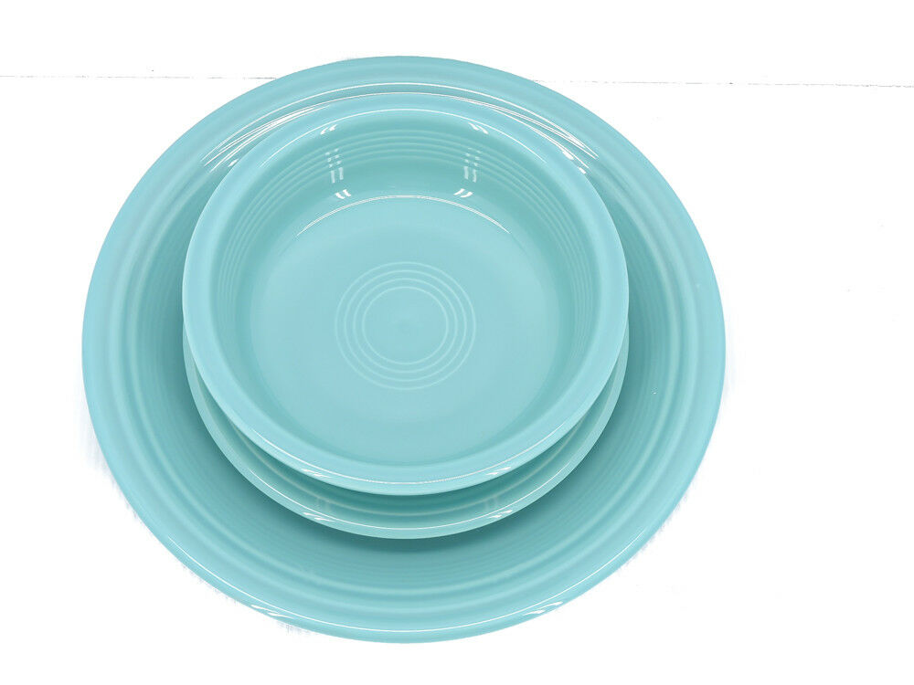 Fiesta® 3-Piece Classic Place Setting in Turquoise
