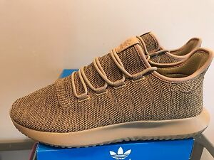 0e4001c90809 Image is loading Adidas-Tubular-Shadow-Knit-Light-Brown-Oxford