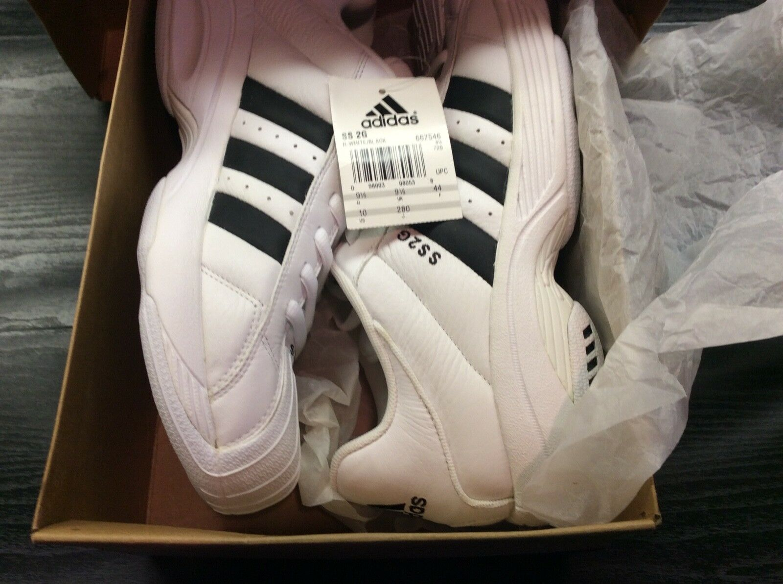Men's US 10 adidas Superstar 2G Supreme NIB with tags early label Dec 2000