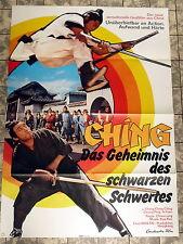 CHING - DAS GEHEIMNIS DES SCHWARZEN SCHWERTES * A1-Filmposter / Kinoplakat 1973
