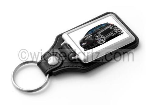 RetroArtz Cartoon Car Ford Focus ST MK3 in Black Classic Key Ring
