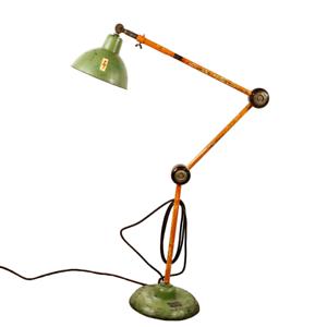 Arbeits Steh Leuchte Shabby Industrial Design Boden Lampe Permo Vintage 50er60er