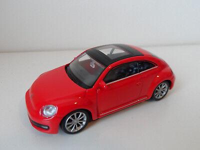 Welly Volkswagen VW New Beetle weiß in 1:60  Neu /& OVP