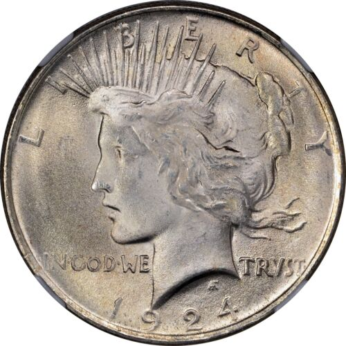 1924 Peace Silver Dollar Brilliant Uncirculated BU