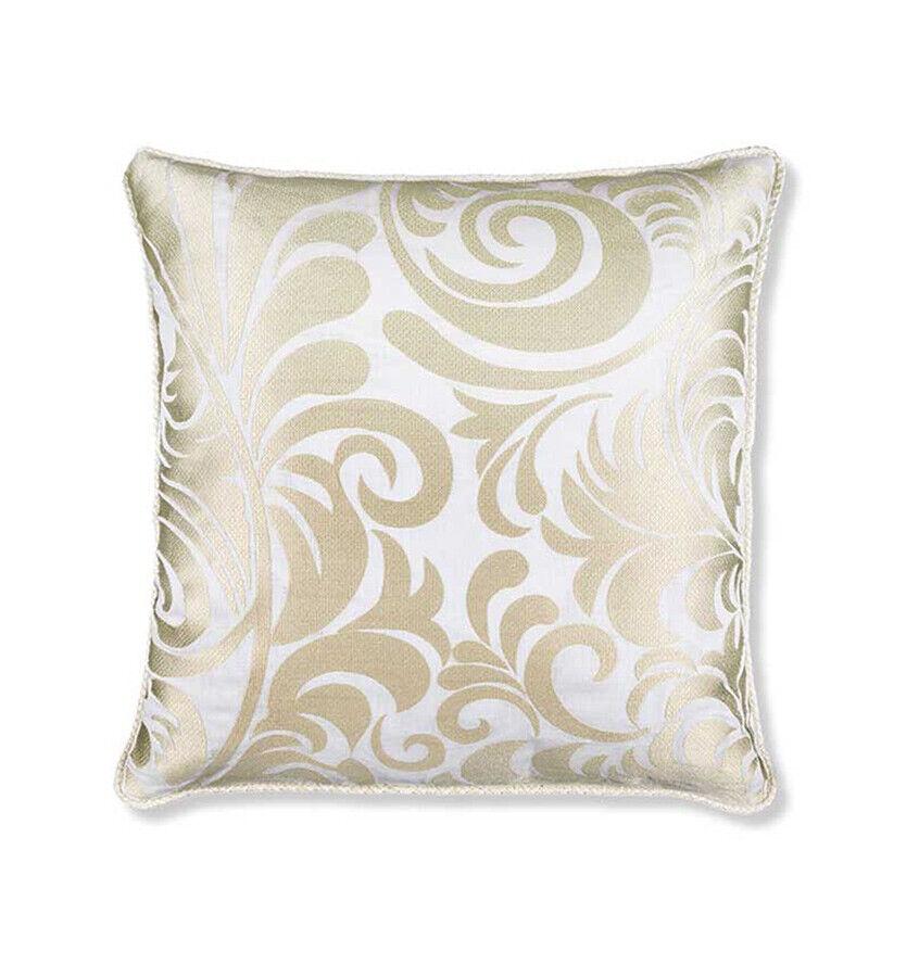 Sferra CORSINI  Decorative Pillow 19 x 19  100% LINEN bianca IVORY - NEW
