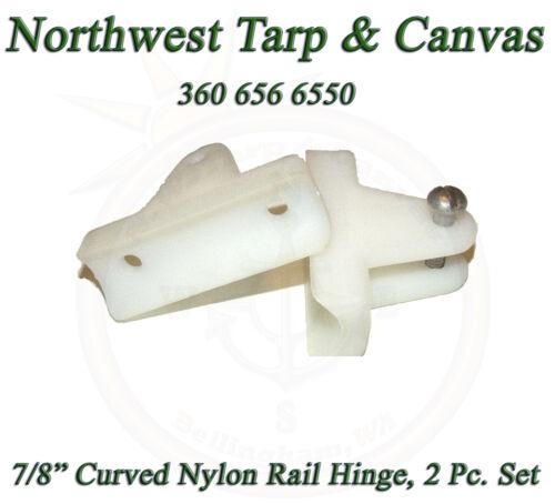 "Marine Grade 2 Each 90° Degree For 7//8/"" Rail Tubing Nylon White Rail Hinge"