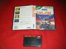 Jeu SEGA Master System   Line of Fire   Version PAL