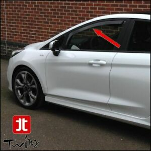 Deflettori Aria Antiturbo Oscurati per nuova Ford Fiesta 3P dal