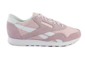 Details about Reebok Classic Nylon Sp AR2720 Women's Sneaker Trainers Pink Leather Shoes