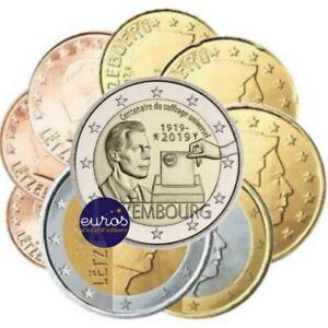 2-euros-commemorative-LUXEMBOURG-2019-Droit-de-Vote-serie-1-cent-a-2-euros-UNC