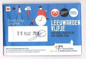 nederland-coincard-EERSTE-DAG-VAN-UITGIFTE-LEEUWARDEN-VIJFJE-2018