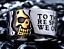 Anello-Massiccio-Fascia-Incisione-Uomo-Donna-Unisex-Acciaio-Inox-Teschio-Skull miniatura 1