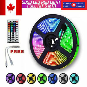 NEW-Waterproof-LED-Strip-Lights-5050-RGB-LED-Rope-Lights-without-power-adapter