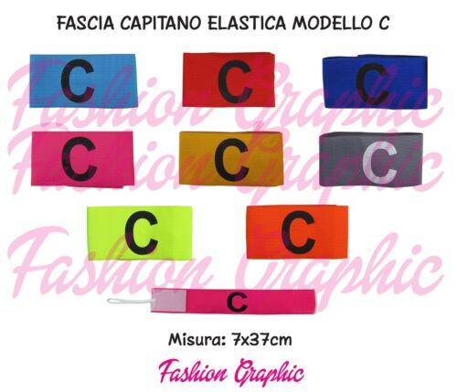 FASCIA DA CAPITANO ELASTICA MODELLO CLASSICO CON LACCETTO SPORT CALCIO SQUADRA