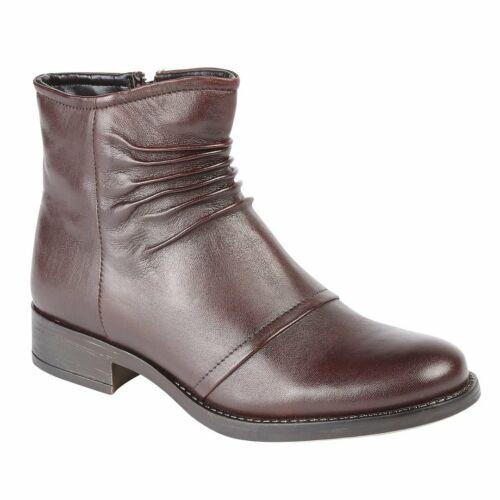 Lotus Bannock Bordo Leather Ankle Boots