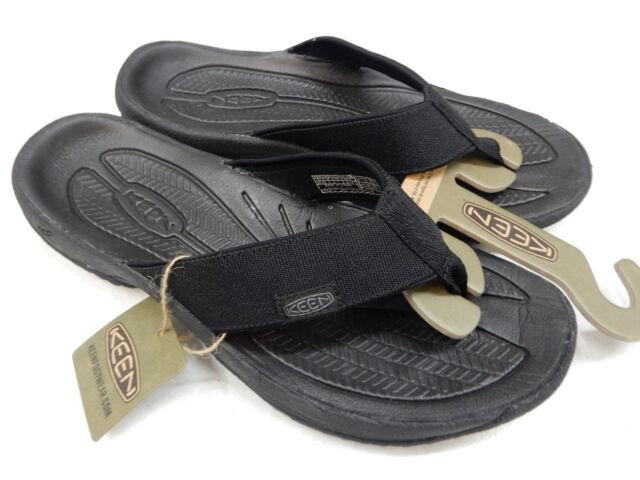 e4440da2e72165 KEEN Mens Sandals Kona Flip II Black Steel Grey Size 13