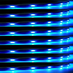 Lot8-Blue-15-LED-30CM-Car-Grill-Flexible-Waterproof-Light-Strip-SMD-12V-Sales