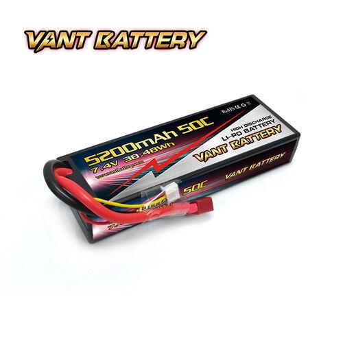 2X VANT 7200mAh 2S 7.4 50C LiPo BATTERY TRAXXAS SLASH RUSTLER STAMPEDE E-REVO