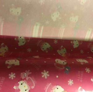 9f5c4e428cf Sanrio Hello Kitty 2014 Holiday 5pc Paper Gift Wrapping Paper   eBay
