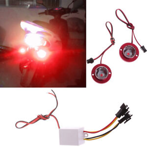 Details about 2x Car Motorcycle High Power LED Decorative Strobe Flash  Brake Tail Red Light