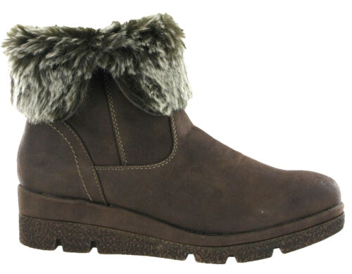 Italian Womens Ankle Over Winter Warm Flat Fold Cipriata Lined 8 Snow 3 Boots Uk FHXdWq