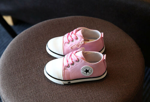 Baby Boy Girl Shoes Breathable Comfortable No Slip Canvas Sneakers 1-3 Years Old