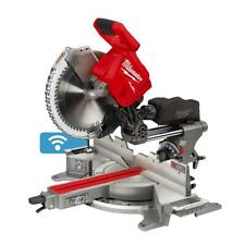 Miter Saw Lithium Ion Brushless Cordless 12 In Dual Bevel Sliding Red 18 Volt