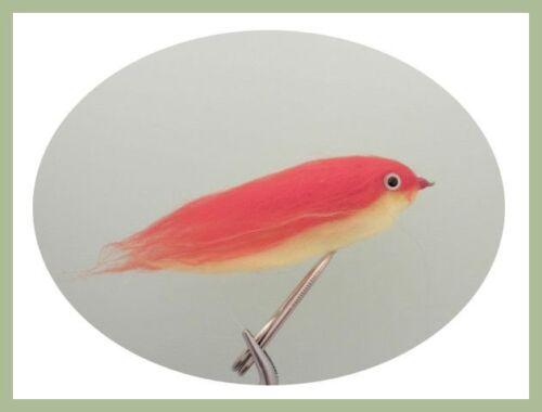 taille 2//0 Pike Fishing Flies Pack De 4 Imitation de la truite arc-en-ciel /& Firebird