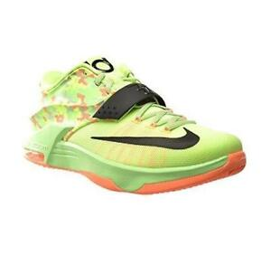 Mens NIKE KD VII Lime SyntheticBasketball Trainers 653996 304