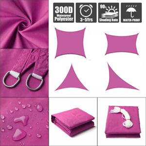 Sun-Shade-Sail-Garden-Patio-Awning-Canopy-Sunscreen-98-UV-Block-Custom-Rose