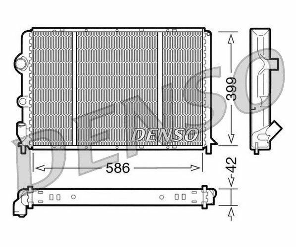 DENSO Radiator, engine cooling DRM23051