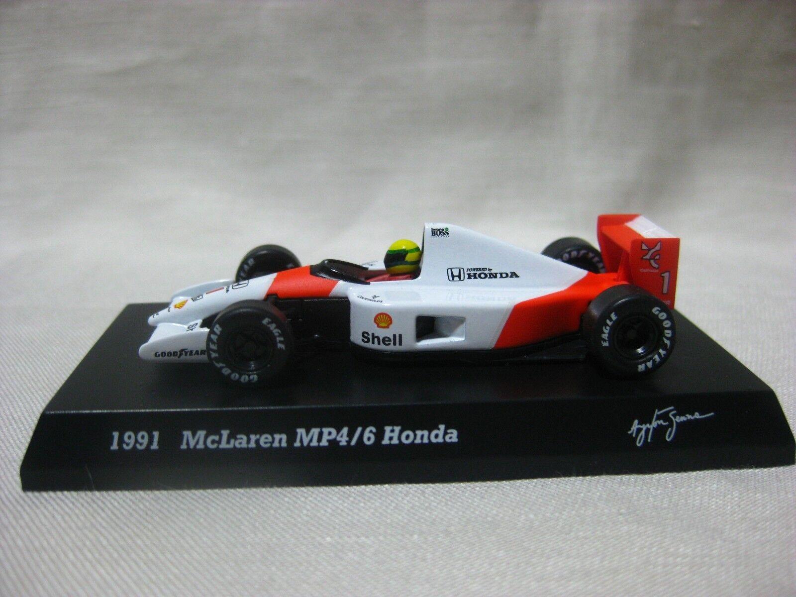 1 64 Kyosho 1991 McLaren MP4 6 Honda Diecast Modelo de Coche