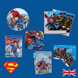 Image Is Loading New DC Comics SUPERMAN Birthday PARTY RANGE Tableware
