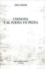 Cernuda y el Poema en Prosa (Monografías A), Valender, James, Very Good Book