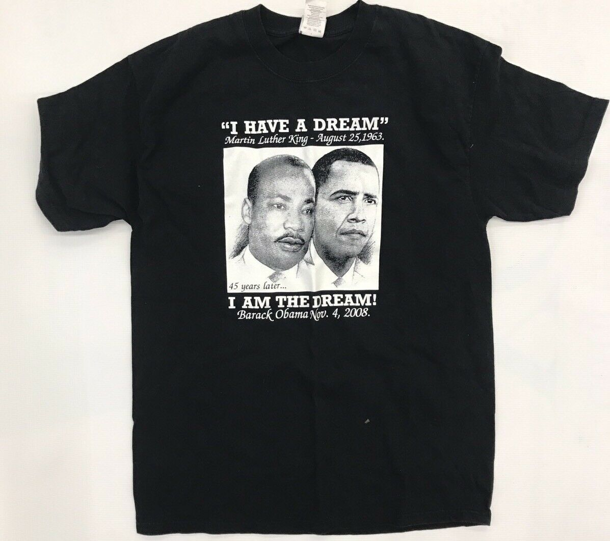 Worn Men's I Have a Dream Martin Luther King T Shirt Size Large Obama