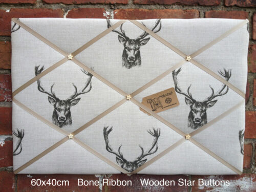 Stag Head Pin//memo//noticeboard Child Gift bedroom Lounge Kitchen Choice Size NEW