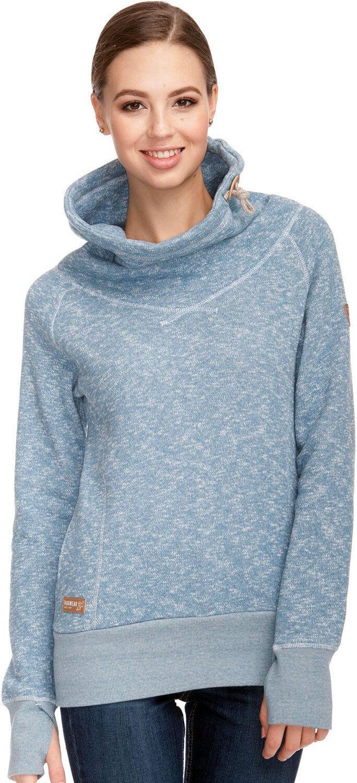 Neu Ragwear Natalie Damen Sweatshirt Sweater light Blau blau