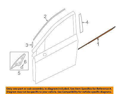 SUBARU OEM Impreza-Door Window Sweep-Belt Molding Weatherstrip Right 61280FJ001