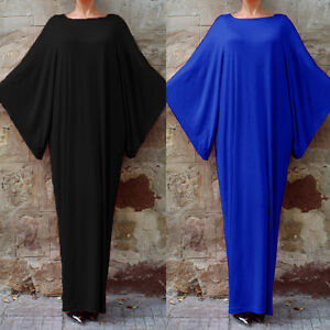 UK-10-24-ZANZEA-Womens-Batwing-Kimono-Style-Full-length-Kaftan-Long-Maxi-Dress