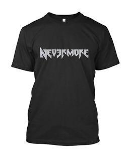 5c9859a5 New NEVERMORE Metal Band Men's Black T-Shirt Size S-5XL   eBay
